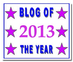 Blog of the Year 2013 award